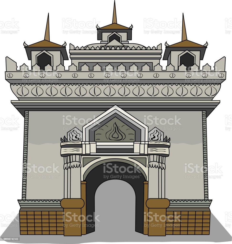 Vectorillustratie van Laos symbool - Royalty-free Antiek - Toestand vectorkunst