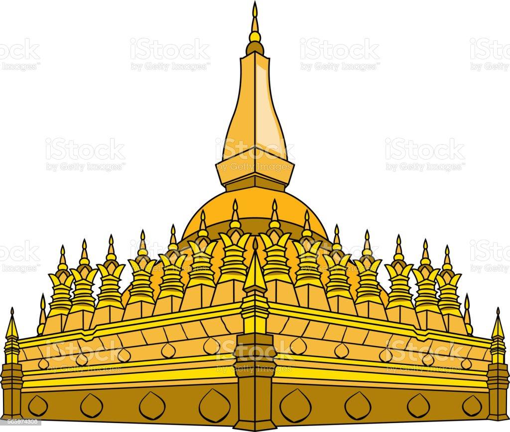Vectorillustratie van Laos tempel - Royalty-free Antiek - Toestand vectorkunst