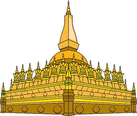 Vectorillustratie Van Laos Tempel Stockvectorkunst en meer beelden van Antiek - Toestand