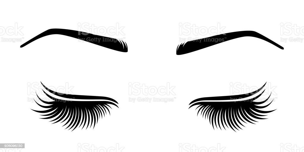 583986a9f5d Vector illustration of lashes and brow. royalty-free vector illustration of  lashes and brow