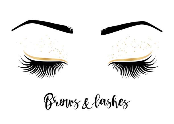 睫毛和眉毛的向量插圖 - 睫毛 幅插畫檔、美工圖案、卡通及圖標