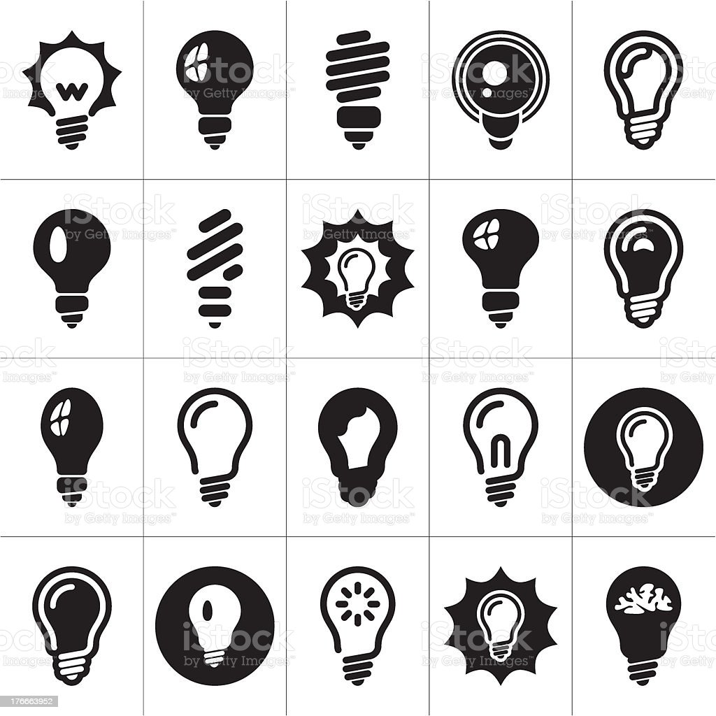 Vector illustration of light bulb icons royalty-free stock vector art