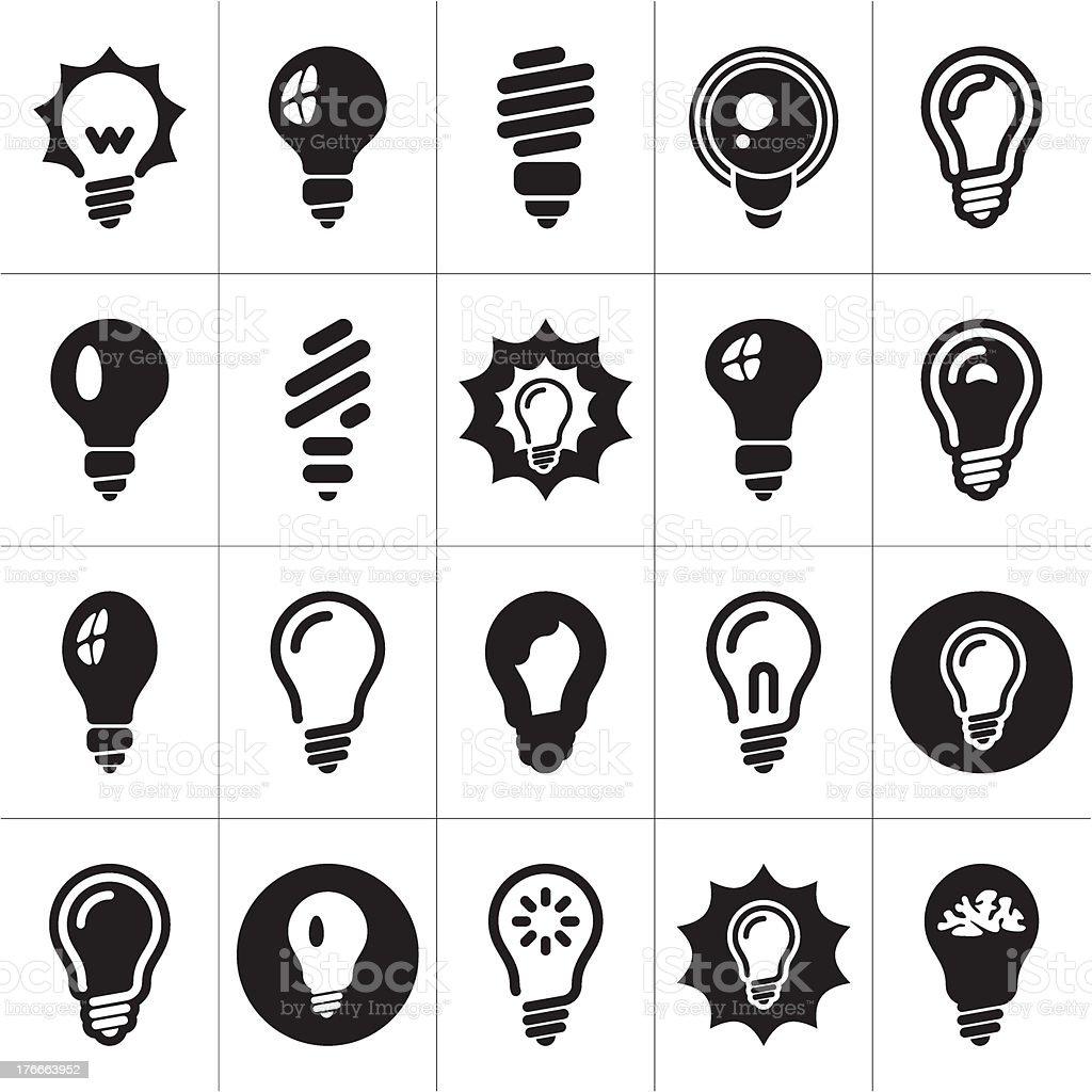 Vector illustration of light bulb icons