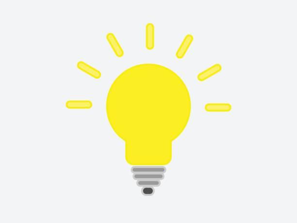 Vektor-illustration von Glühbirne – Vektorgrafik