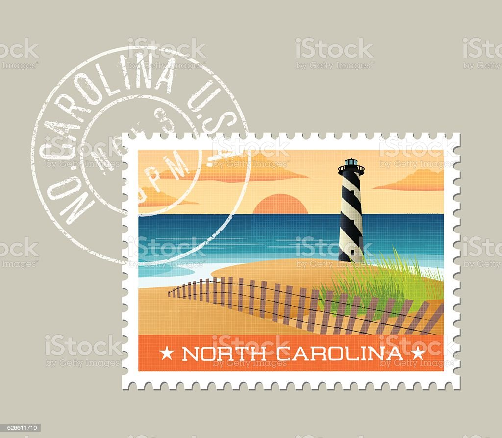 Vector illustration of lighthouse on the outer banks. North Carolina. vector art illustration