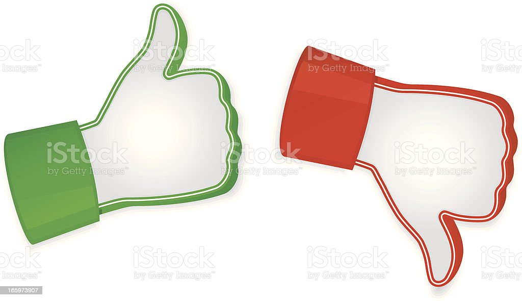 Vector illustration of like and unlike icons vector art illustration