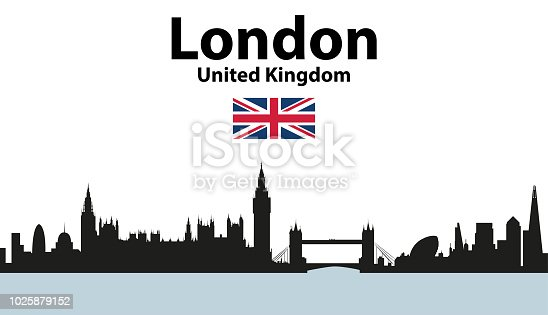 vector illustration of London cityscape at day and night