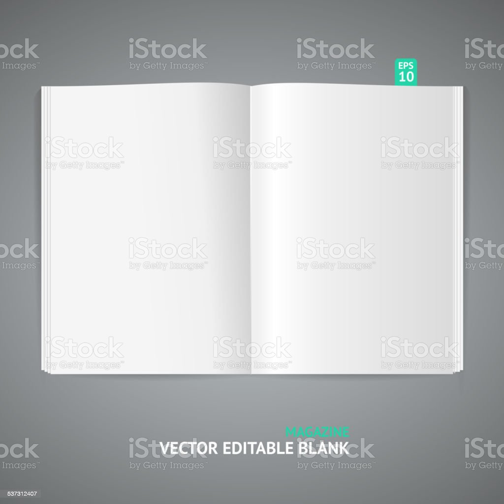 Vector illustration of magazine template vector art illustration