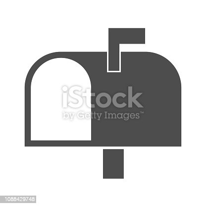 Vector illustration of mailbox icon - Vector