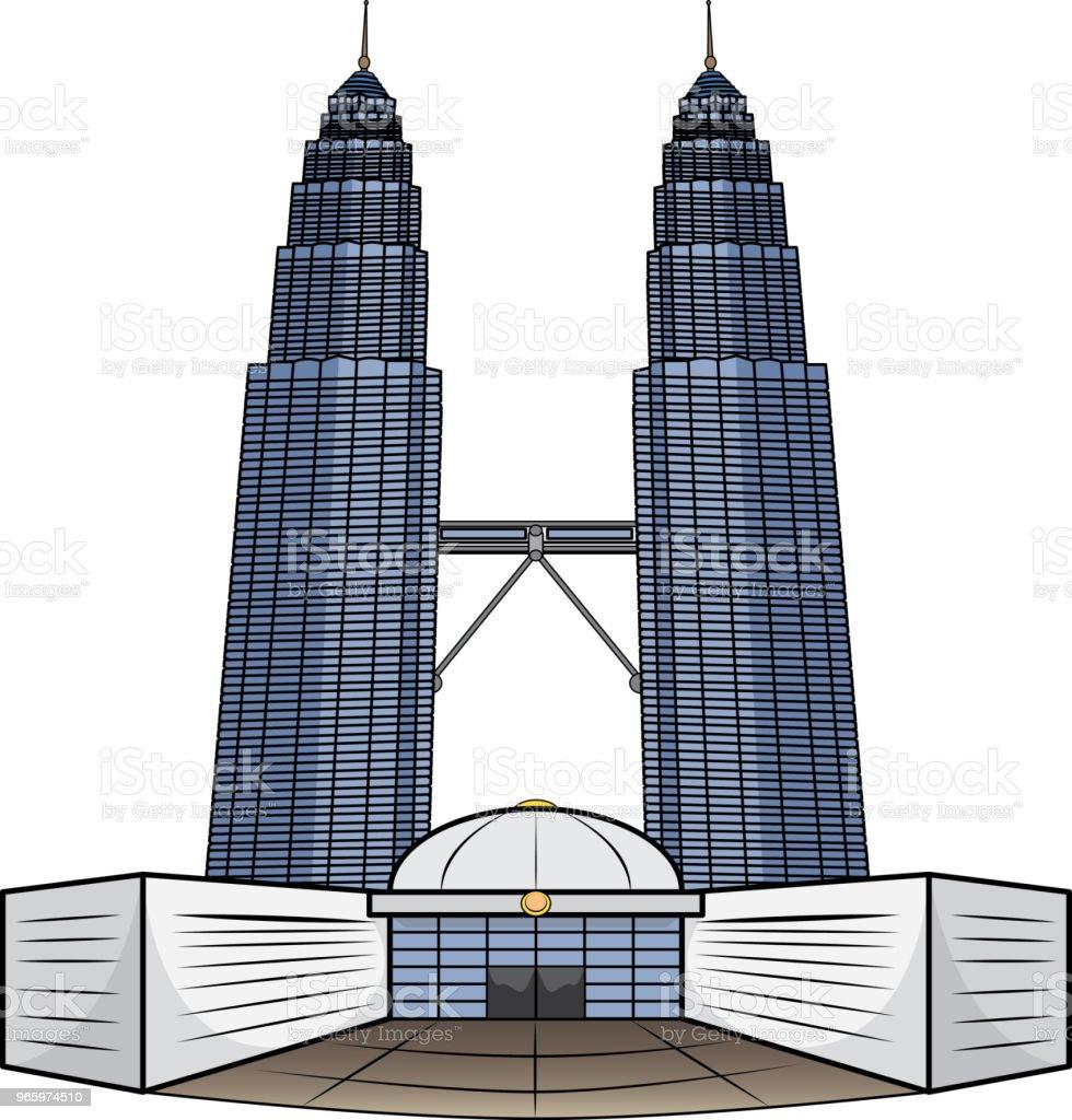 Vectorillustratie van MalaysiaTower - Royalty-free Architectuur vectorkunst