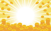 istock Vector illustration of many gold coins. Point 1224792033