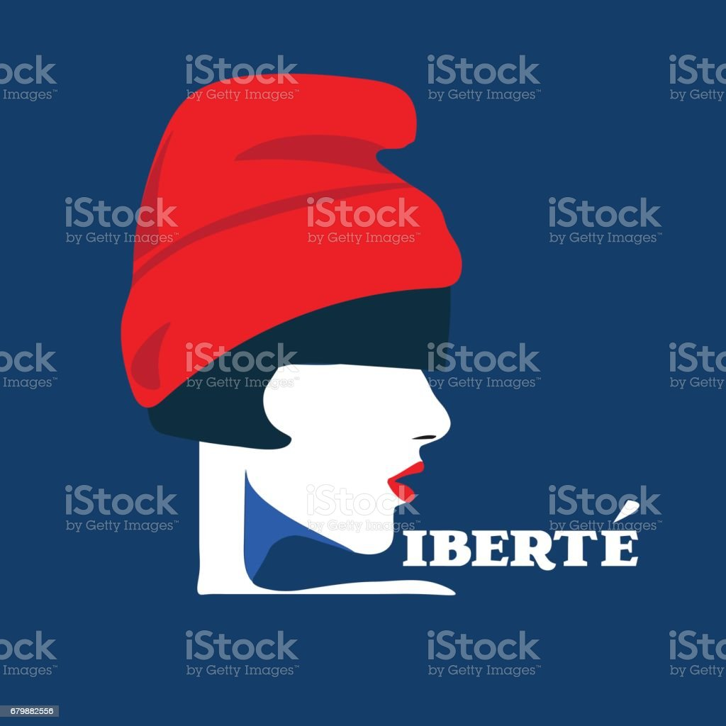 Vector illustration of Marianne, national symbol of the French Republic or France. vector art illustration