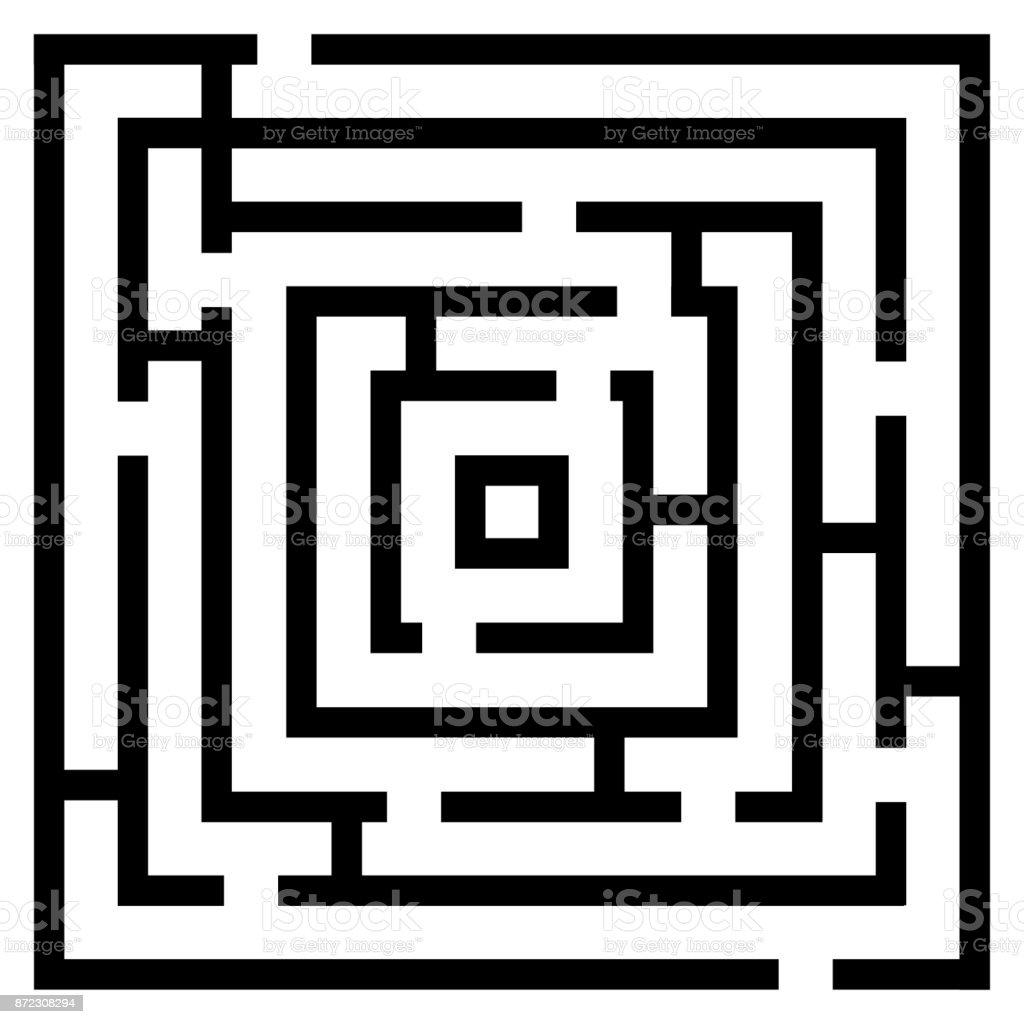 Vector illustration of maze/ labyrinth. vector art illustration