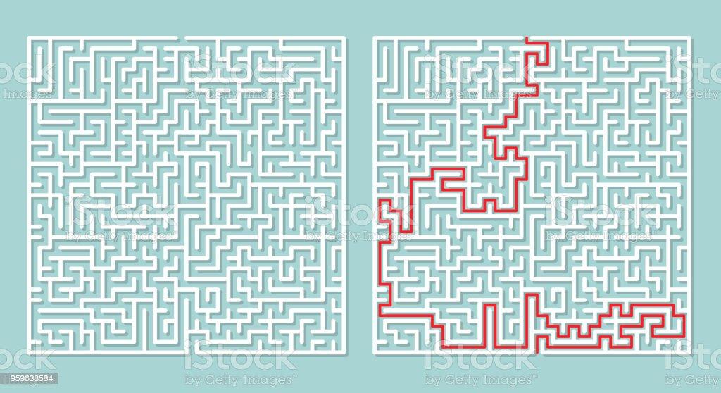 Ilustración de vector de laberinto laberinto. - arte vectorial de Abstracto libre de derechos