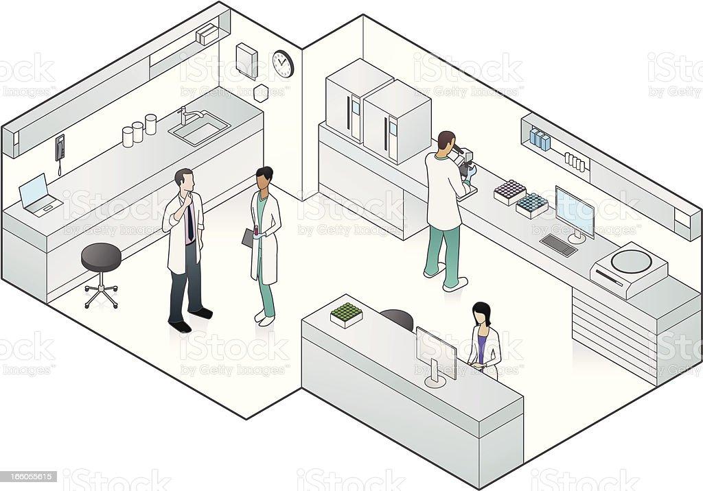 Vector illustration of medical laboratory royalty-free stock vector art