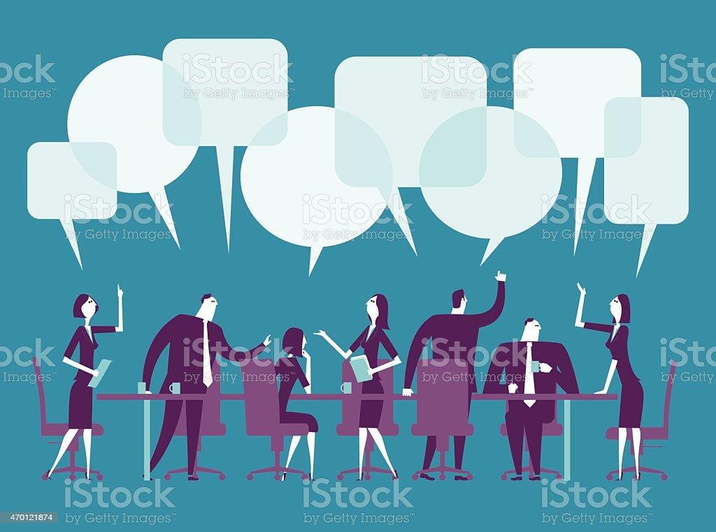 Ilustración vectorial de reuniones - ilustración de arte vectorial