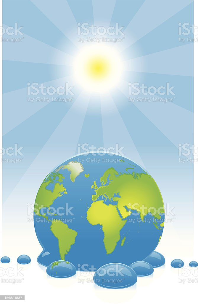 Vector illustration of Melting world royalty-free stock vector art