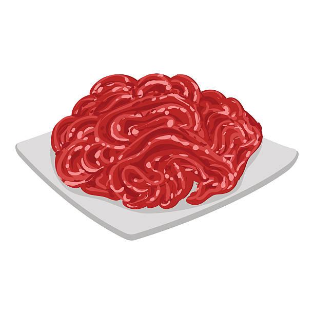 Vector illustration of mince meat vector art illustration