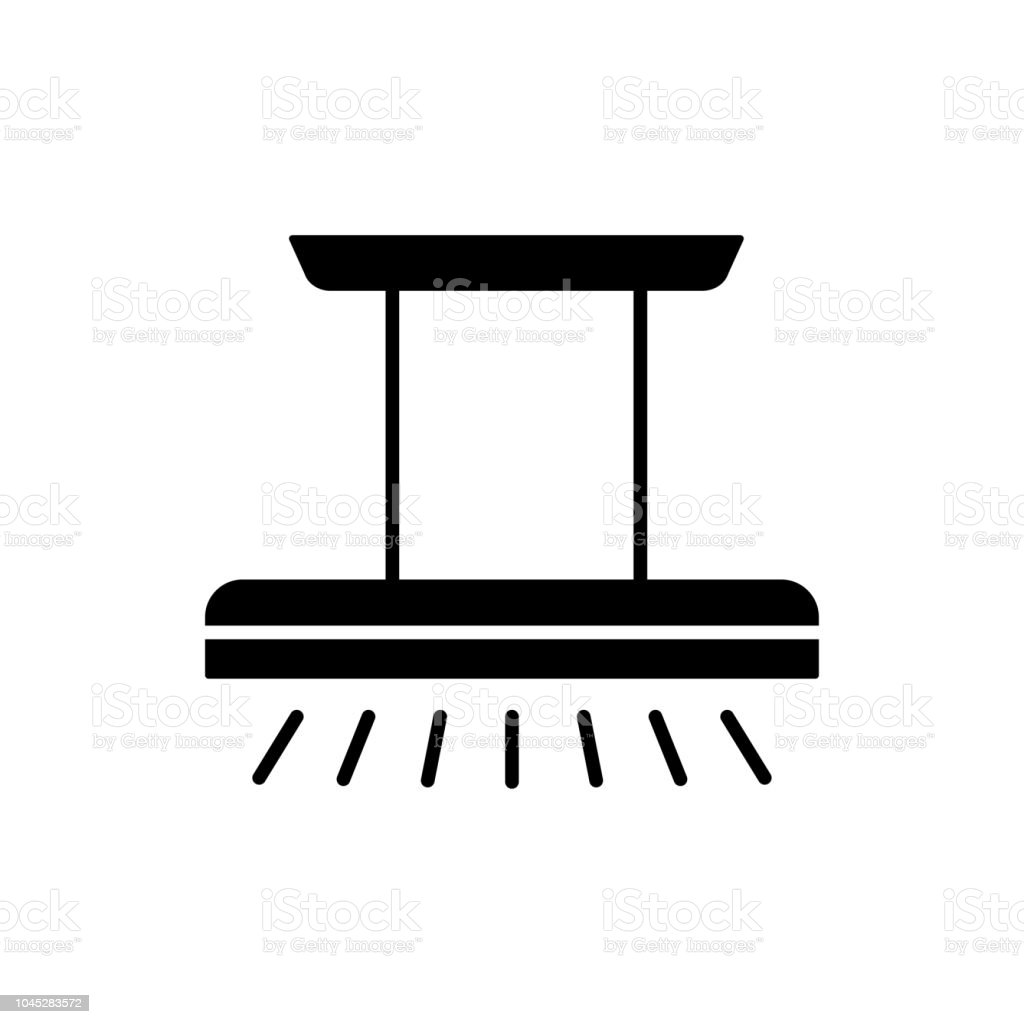 Black Ceiling Lamp Royalty Free Vector Image: Vector Illustration Of Modern Island Ceiling Lamp Flat