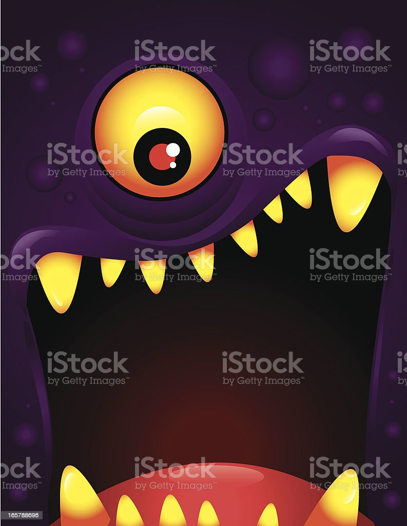 Vector illustration of monster with open mouth vector art illustration
