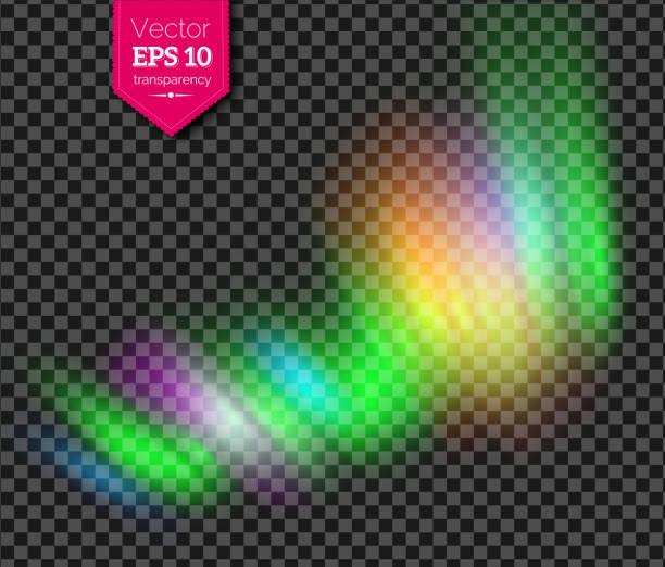 illustrazioni stock, clip art, cartoni animati e icone di tendenza di vector illustration of multicolored northern lights - aurora boreale