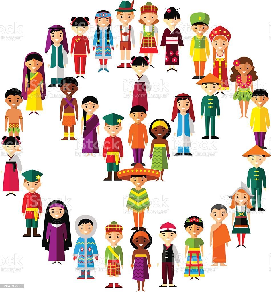 royalty free hawaiian family clip art vector images illustrations rh istockphoto com multicultural family clipart multicultural clipart from around the world