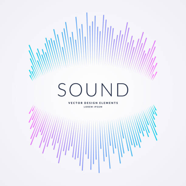 Vector illustration of music wave in the form of the equalizer vector art illustration