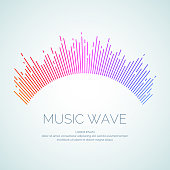 Vector illustration of music wave in the form of the equalizer