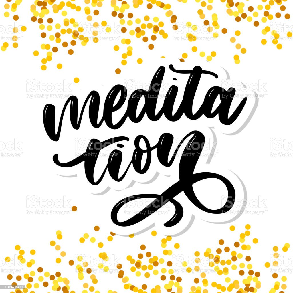 Vector Illustration Of My Therapy Is Meditation Lettering Poster For Yoga Studio And Meditation Class Fun Letters For Greeting And Invitation Card Tshirt Print Design Stock Illustration Download Image Now Istock
