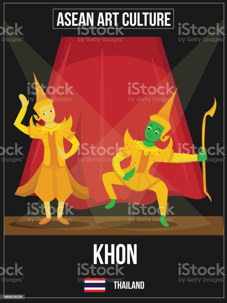 Vektorillustration av nationella konst kultur av Thailand - Royaltyfri Asien vektorgrafik