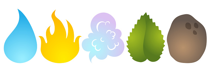 Vector illustration of nature elements.