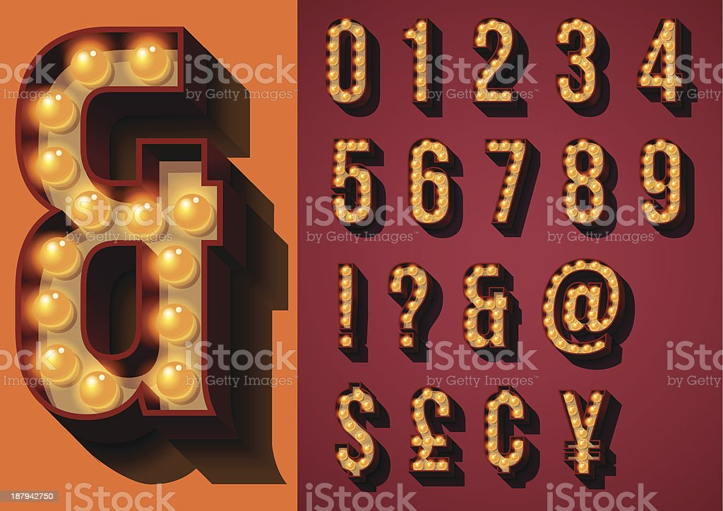 Vector illustration of neon sign types vector art illustration