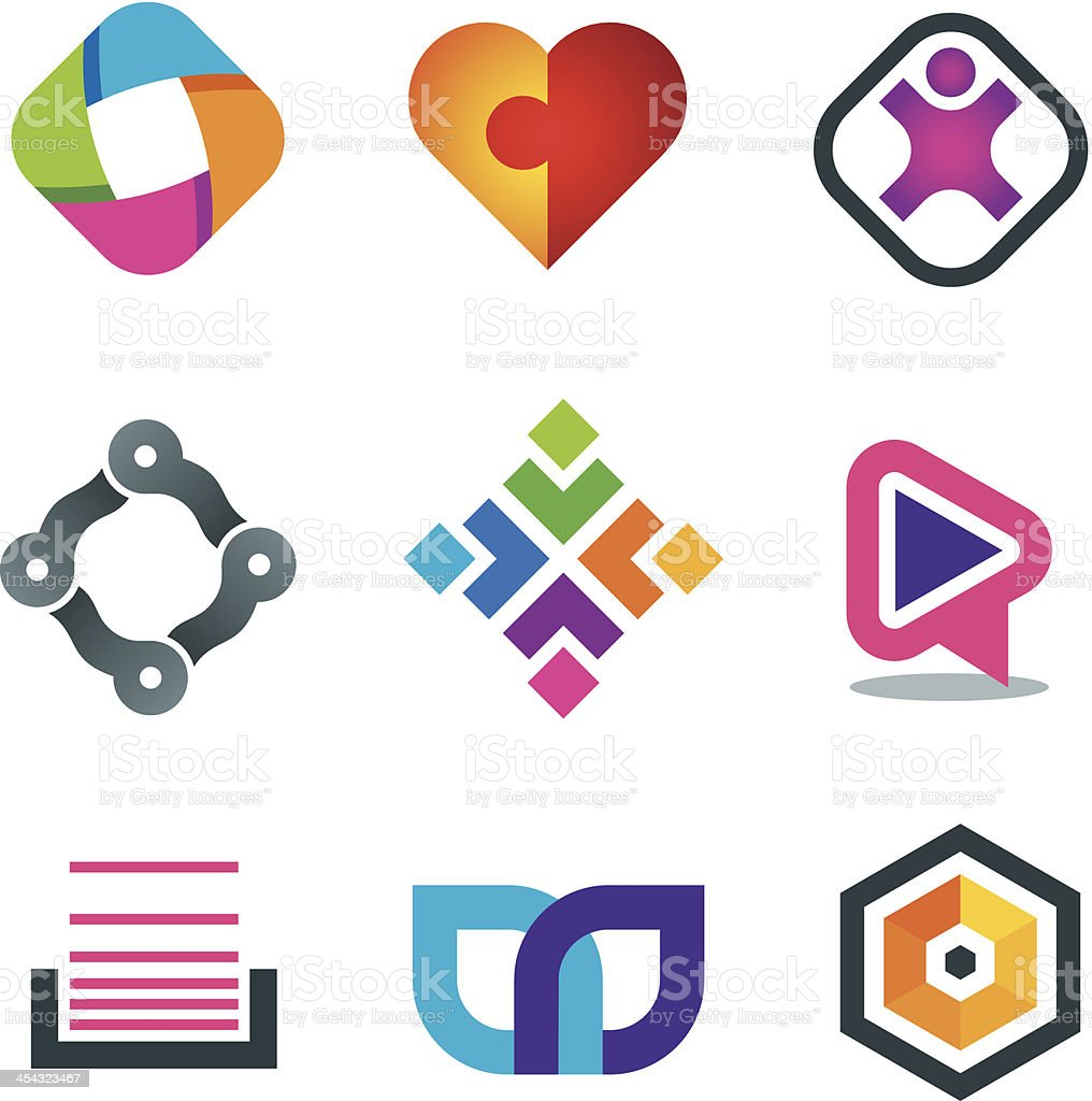 Vector illustration of network icons vector art illustration