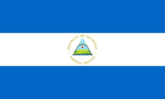 vector illustration of Nicaragua flag. patriotic concept