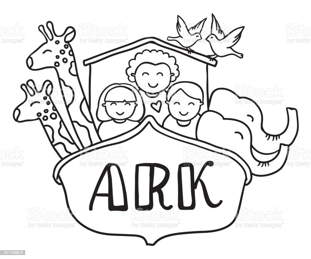 Bible Coloring Page Noah's Ark Coloring Kid Coloring Page | Etsy | 853x1024