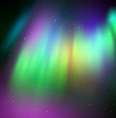 Vector illustration of northern lights
