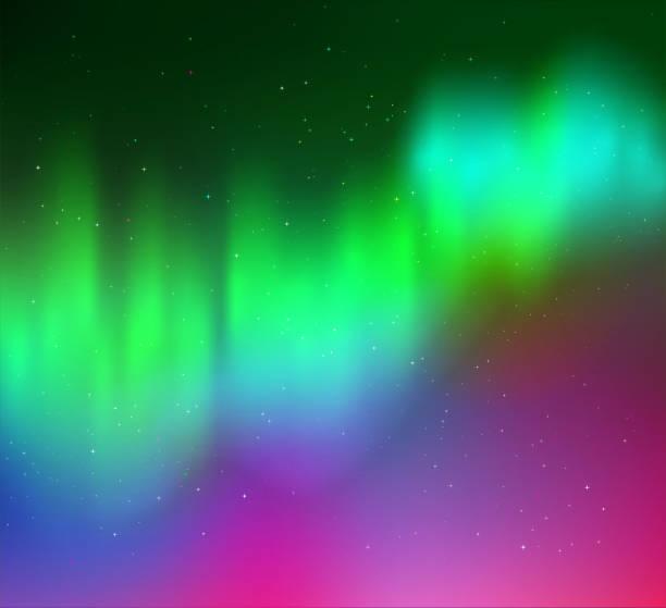 vector illustration of northern lights - オーロラ点のイラスト素材/クリップアート素材/マンガ素材/アイコン素材