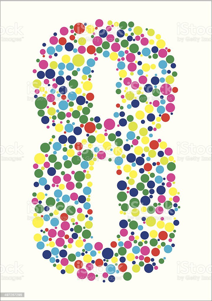 Vector illustration of number eight royalty-free stock vector art