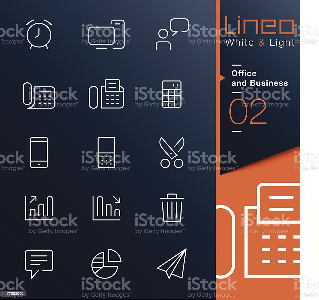 Vector illustration of office and business icons royalty-free stock vector art