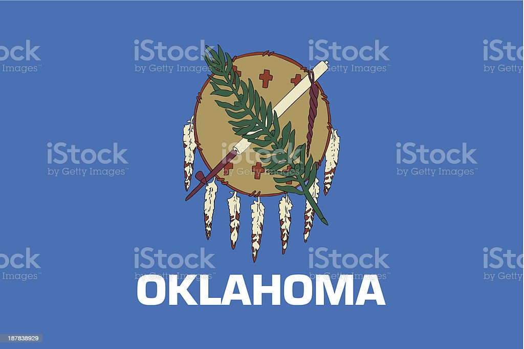 Vector illustration of Oklahoma state flag royalty-free stock vector art