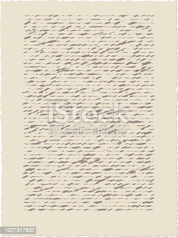 vector illustration of  old calligraph  paper