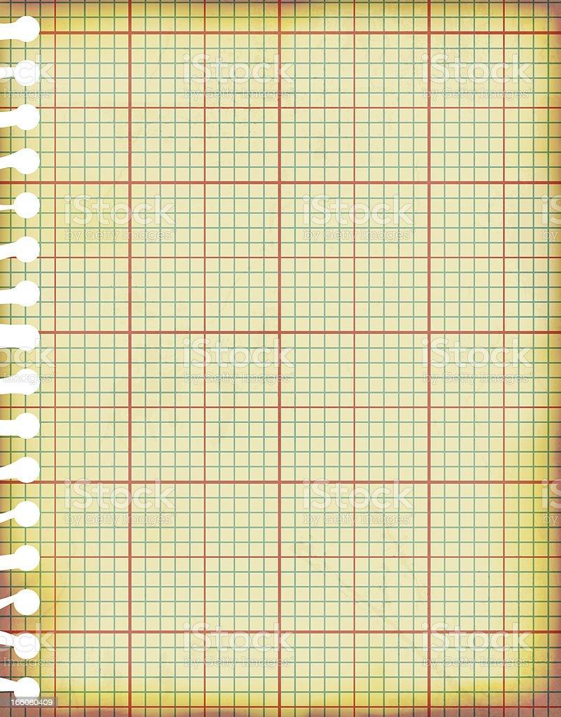 Illustration Vectorielle De Vieux Grunge Papier Millimétré