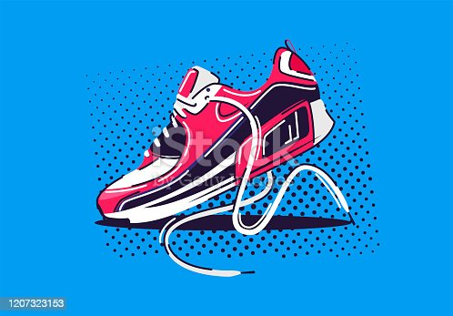 Vector illustration of one sports running Shoe