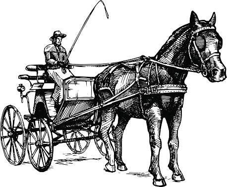 Vector illustration of open carriage