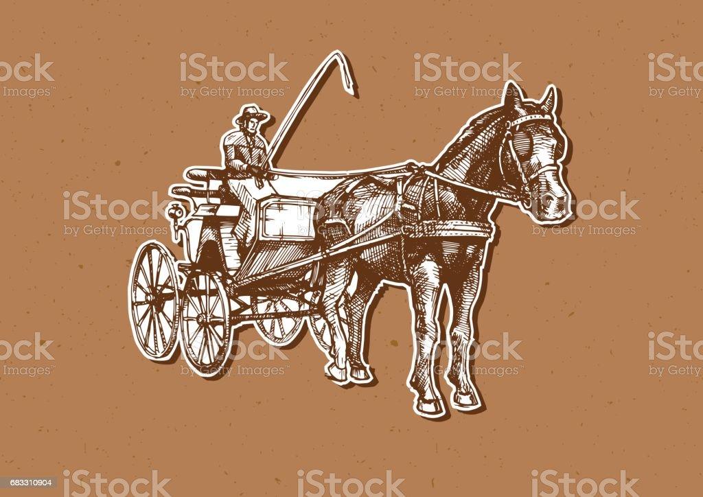 Vector illustration of open carriage vector illustration of open carriage - immagini vettoriali stock e altre immagini di 4x4 royalty-free