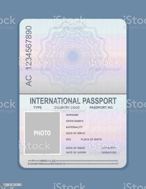 Vector illustration of open passport template document for travel vector id1090425080?b=1&k=6&m=1090425080&s=612x612&h=dborm4gevhqgcbmz nex7fbfbuxqe26q88rxcaea ci=
