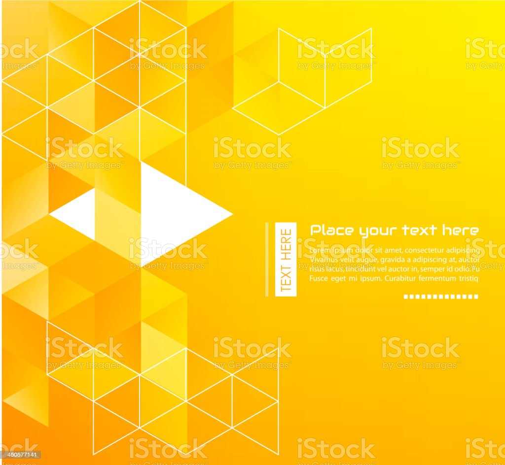 Vector illustration of orange abstract background royalty-free stock vector art