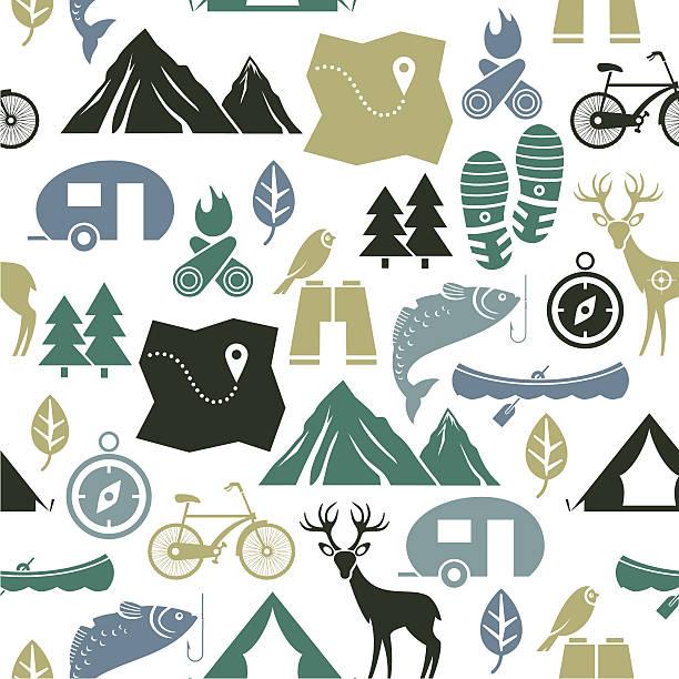 vector illustration of outdoor activities - bird watching stock illustrations, clip art, cartoons, & icons
