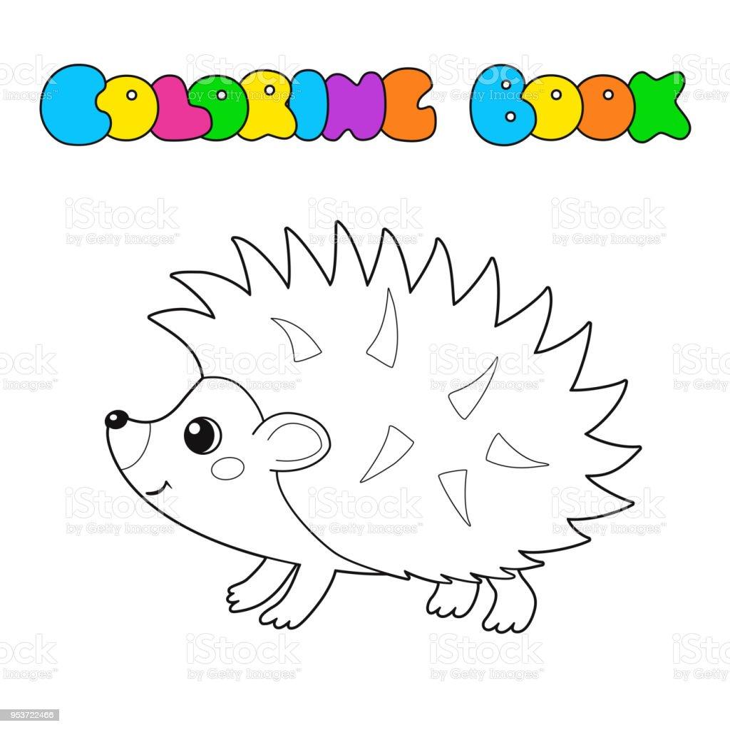 - Vector Illustration Of Outline Cute Hedgehog Coloring Book For Kids Stock  Illustration - Download Image Now - IStock