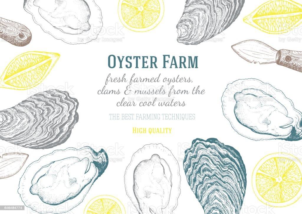 Vector illustration of oyster. vector art illustration